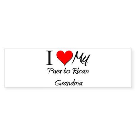 I Heart My Puerto Rican Grandma Bumper Sticker