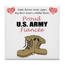 Proud US Army Fiancee Tile Coaster