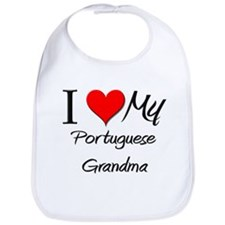 I Heart My Portuguese Grandma Bib