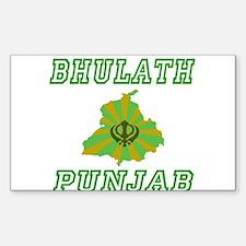 Bhulath, Punjab Rectangle Decal