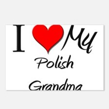 I Heart My Polish Grandma Postcards (Package of 8)