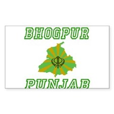 Bhogpur, Punjab Rectangle Decal