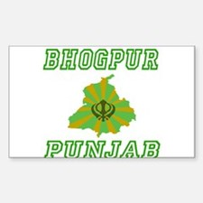 Bhogpur, Punjab Rectangle Decal