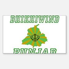 Bhikhipind, Punjab Rectangle Decal