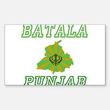 Batala, Punjab Rectangle Decal