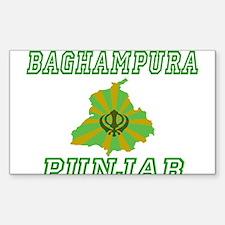 Baghampura, Punjab Rectangle Decal