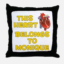 This Heart: Monique (A) Throw Pillow