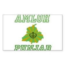 Amloh, Punjab Rectangle Decal