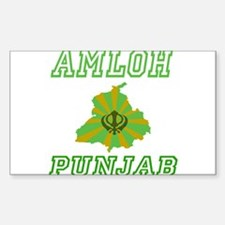 Amloh, Punjab Rectangle Decal