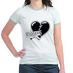Closed For Repairs Heart Jr. Ringer T-Shirt