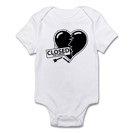 Closed For Repairs Heart Infant Bodysuit