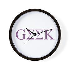 Purple Greek Geek Wall Clock