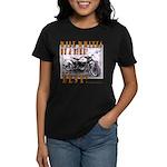 WIDE WHITES on a BIKE Women's Dark T-Shirt