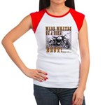 WIDE WHITES on a BIKE Women's Cap Sleeve T-Shirt