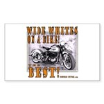 WIDE WHITES on a BIKE Rectangle Sticker