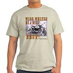 WIDE WHITES on a BIKE Light T-Shirt