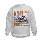 WIDE WHITES on a BIKE Kids Sweatshirt