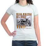 WIDE WHITES on a BIKE Jr. Ringer T-Shirt