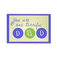 One Terrific Dad Rectangle Magnet (10 pack)