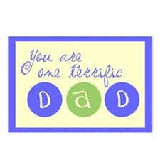 One Terrific Dad Postcards (Package of 8)