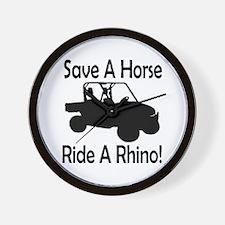 Save A Horse Ride A Rhino Wall Clock