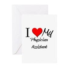 I Heart My Physician Assistant Greeting Cards (Pk