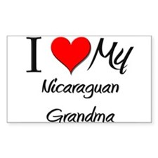 I Heart My Nicaraguan Grandma Sticker (Rectangular