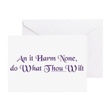 Wiccan Rede Greeting Card