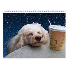 Cute poodle Wall Calendar