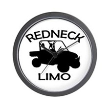 Redneck Limo Wall Clock