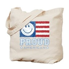 Smiley Face Proud American Tote Bag