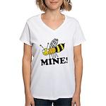 Bee Mine Women's V-Neck T-Shirt