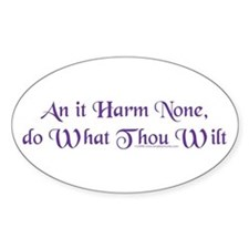 Wiccan Rede Oval Decal