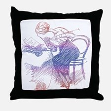 How to Knit Throw Pillow