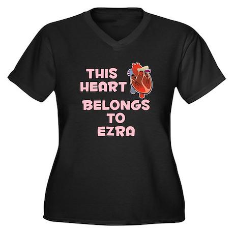 This Heart: Ezra (C) Women's Plus Size V-Neck Dark