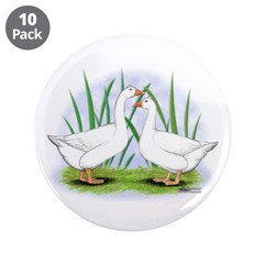 """Tufted Roman Geese 3.5"""" Button (10 pack)"""