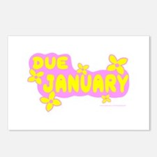DUE IN JANUARY Postcards (Package of 8)