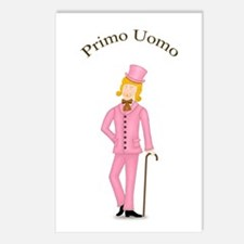 Blond Primo Uomo in Pink Suit Postcards (8pk)