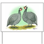 French Guineafowl Yard Sign