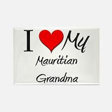 I Heart My Mauritian Grandma Rectangle Magnet