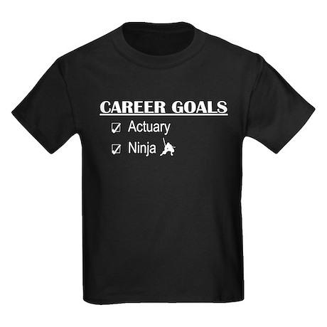 Actuary Career Goals Kids Dark T-Shirt