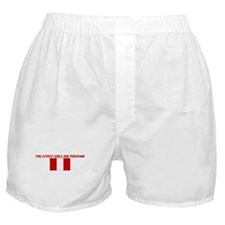 THE CUTEST GIRLS ARE PERUVIAN Boxer Shorts