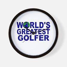 World's Greatest Golfer Wall Clock