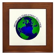 World's Greatest Golfer Framed Tile