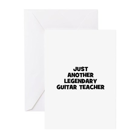 just another legendary guitar Greeting Cards (Pk o