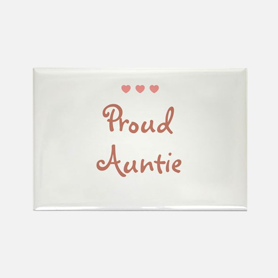 Proud Auntie Rectangle Magnet