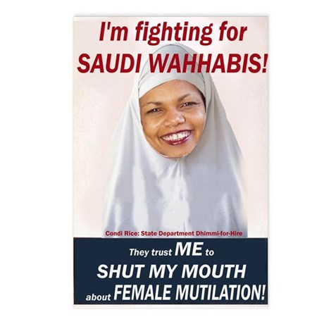 Condi Rice - Dhimmi for FGM Postcards (Package of