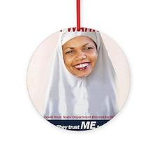 Condi Rice - Dhimmi for FGM Ornament (Round)