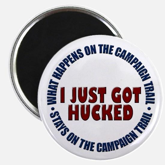 "I just got hucked 2.25"" Magnet (10 pack)"