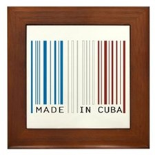 made in cuba Framed Tile
